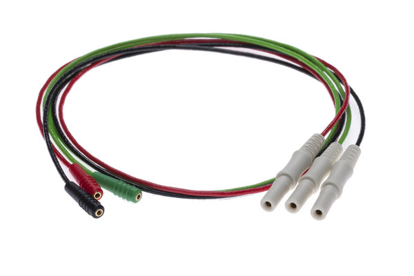 Adapter cable with 1,25mm socket and safety connector