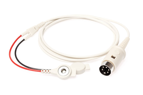 PN 332060│Connection cable with 2 push-buttons and 5-pin DIN connector 240°; cable length 1200mm