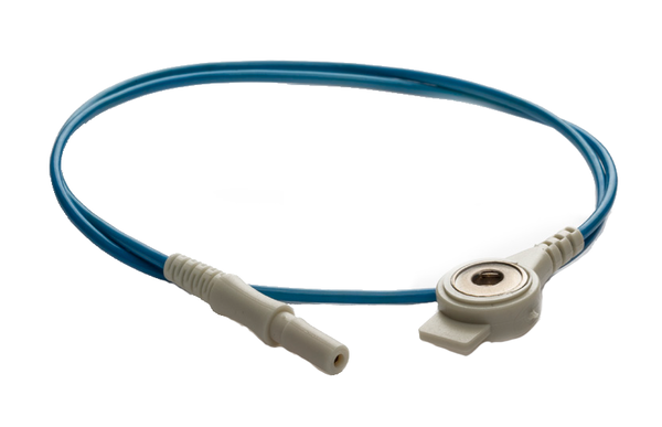 PN 160546│1000mm Push Button cable with safety connector blue