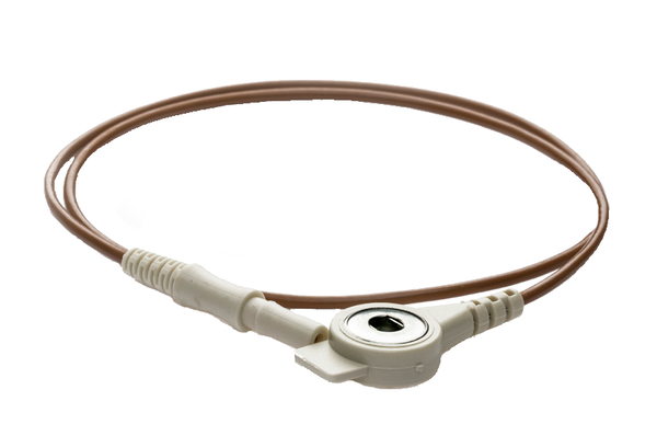 PN 160542│1000mm Push Button cable with safety connector brown