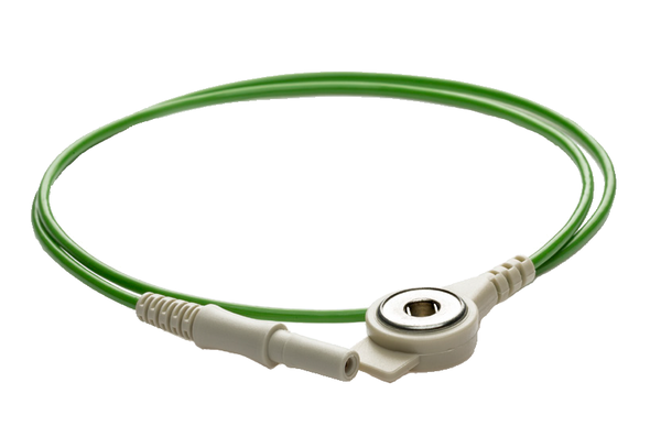 PN 160543│1000mm Push Button cable with safety connector green